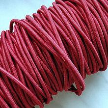 Galantéria - Guma guľatá 2,6mm-červená-1m - 5023664_