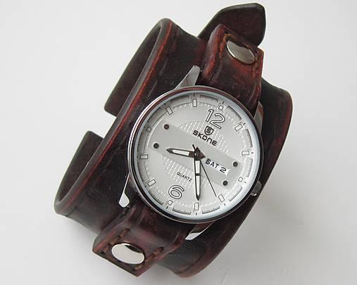 245115e96 Pánske vintage hodinky hnedé / leon - SAShE.sk - Handmade Náramky