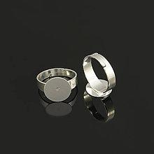 Komponenty - PRS5979, Prsteň nalepovací 12mm STRIEBRO /1ks - 5024020_