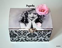 Krabičky - Zamyslené dievčatko - 5024773_