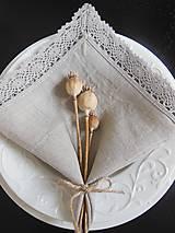 Úžitkový textil - Ľanový obrúsok Pure Beauty - 5022795_