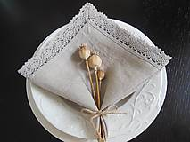 Úžitkový textil - Ľanový obrúsok Pure Beauty - 5022798_