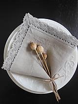Úžitkový textil - Ľanový obrúsok Pure Beauty - 5022799_