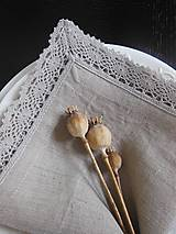 Úžitkový textil - Ľanový obrúsok Pure Beauty - 5022801_