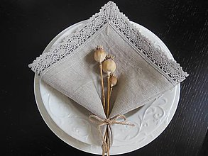 Úžitkový textil - Ľanový obrúsok Pure Beauty - 5022797_
