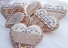Dekorácie - Medovníkové Srdiečko 12 cm - 5026926_