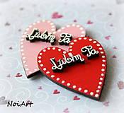 Magnetky - Srdiečko Ľúbim ťa ♥ - 5029971_