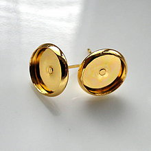Komponenty - Puzeta s lôžkom-1pár (10mm-zlatá) - 5026342_