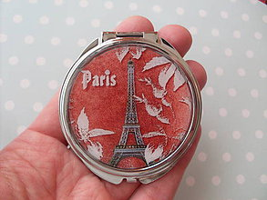 Zrkadielka - Paris no.3 (zrkadielko + náušničky) - ZĽAVA zo 6,20 eur - 5027365_