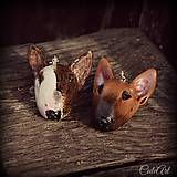 Náušnice s hlavičkou psa - podľa fotografie