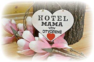 """Tabuľky - srdiečko """"Hotel MAMA"""" so srdiečkom - 5028692_"""