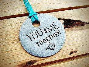 Kľúčenky - YOU & ME ..ako holúbkovia :) - 5033703_