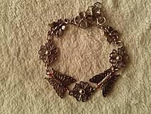 Náramky - Náramok motýľovo-kvietkový. - 5033856_