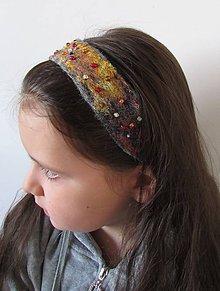 Ozdoby do vlasov - plstená čelenka \