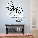 Dekorácie - (3625n) Nálepka na stenu - Family - 5031785_