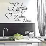 Dekorácie - (3618n) Nálepka na stenu - Kuchyňa je... - 5031801_