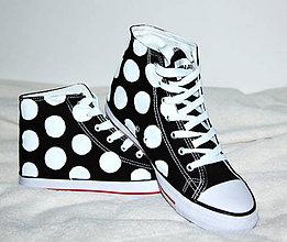 Obuv - black & white bodky - 5032085_