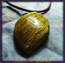 Náhrdelníky - 423. Drevený náhrdelník - BUK - Kurkuma - 5030966_