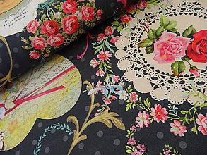 Textil - bavlnené látky -NOVINKA-Francúzko- 3D - 5033372_