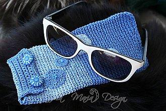 Taštičky - púzdro na okuliare modré - 5031851_