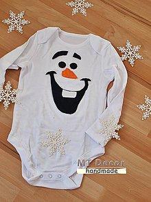 Detské oblečenie - na hrudi s OLAFOM  body  - 5031179  b4c5e6e059f