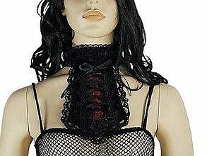 Šály - Dámsky gothic kravatový obojok - korzetová kravata 0590 - 5038444_