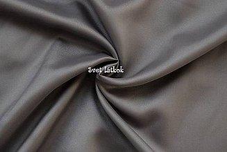 Textil - Podšívka polesterová tmavo šedá - 5039052_
