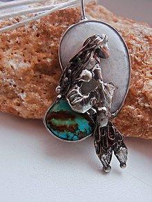 Náhrdelníky - Morská Panna mesačný kameň a tykys - 5037546_