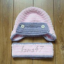 Detské čiapky - Sada... čiapočka a nákrčník
