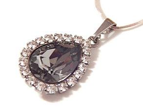 Náhrdelníky - Rutheniovy privesok so Swarovskeho kristalom - 5041792_