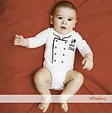 Detské oblečenie - (1154b) Body pre deti - Little chef - 5041155_