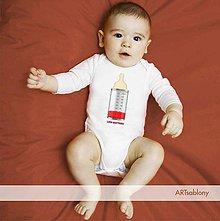 Detské oblečenie - (1155b) Body pre deti - Low Battery - 5041519_