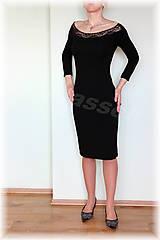 Šaty - Šaty vz.227(barva černá,bílá) - 5042034_