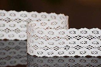 Galantéria - Bavlnená čipka, biela 5,5 cm - 5044117_