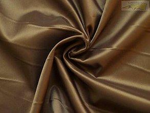 Textil - Podšívka polyesterová hnedá - 5044194_