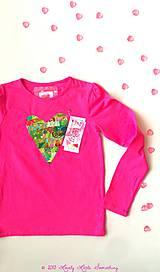Detské oblečenie - Tričko srdiečkové - 5039931_