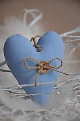 Dekorácie - Srdiečko v modrom šate - 5040603_