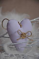 Dekorácie - Srdiečko v ružovom šate mix - 5040672_