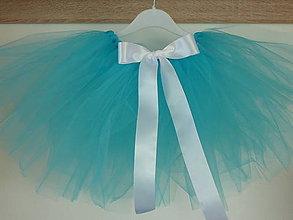 Detské oblečenie - Tyrkysová jednoduchá tutu suknička - 5045065_