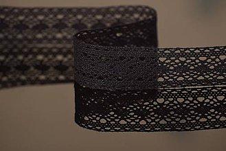Galantéria - Bavlnená čipka, čierna, 3 cm - 5046894_