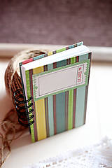 Papiernictvo - Pruhovaný zápisník - 5046109_
