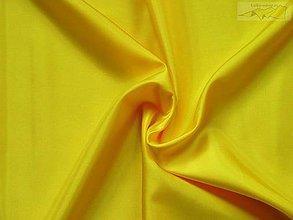 Textil - Podšívka polyesterová žltá - 5046695_