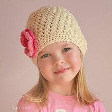 Detské čiapky - Šmrncovka smotanová - 5047914_