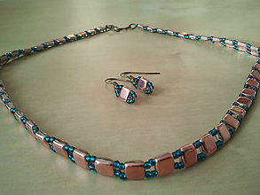 Náhrdelníky - Antický náhrdelník s náušnicami ako bonus - 5046504_