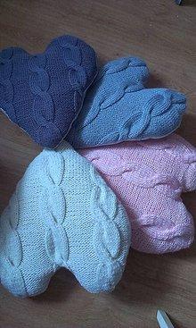 Úžitkový textil - pletené vankúše - 5047807_