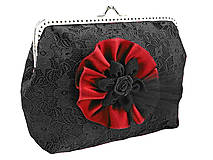 Kabelky - Spoločenská dámská čierná kabelka 0920D - 5051455_