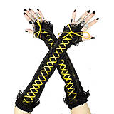 Rukavice - Elegantné spoločenské bezprstové čierné rukavice 0121D - 5052791_