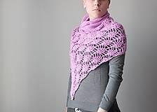 Iné oblečenie - Háčkované pončo- svetlofuchsiová - 5049862_
