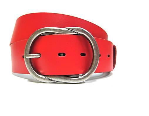 fa8b4856f Červený kožený opasok / SK-Opasky - SAShE.sk - Handmade Opasky