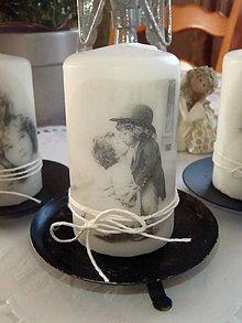 "Svietidlá a sviečky - Vintage sviečka ""Love"" - 5051233_"